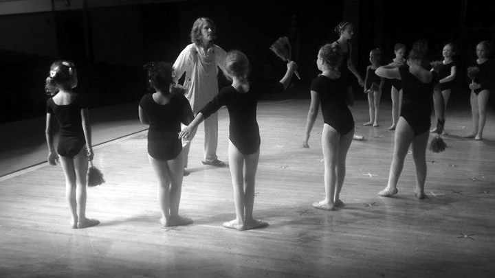 Deni Jacks leads a group of dancers from The Children's Ballet in rehearsal for a performance
